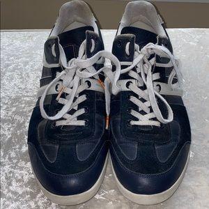 BOSS ORANGE Suede like/leather sneakers